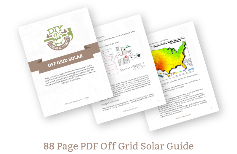 Off grid solar basics diy homestead projects the diy video course includes everything you need to complete this project from start to finish solutioingenieria Images